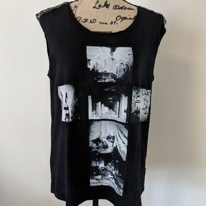 Rock & Republic Tank top sleeveless black Large